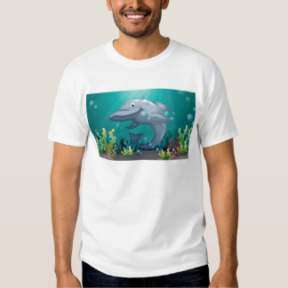 A shark under the sea tshirt
