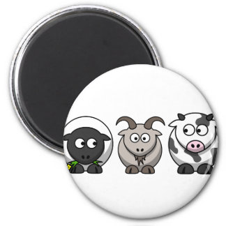 A Sheep, A Goat and a Cow Magnet