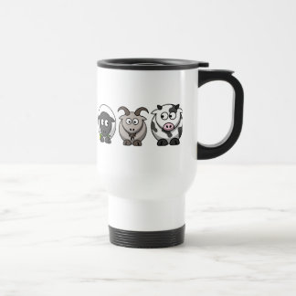 A Sheep, A Goat and a Cow Travel/Commuter Mug