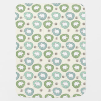 A sheep in ovals baby blanket