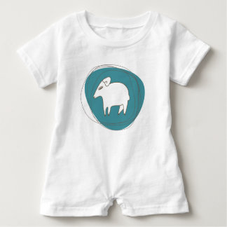 A sheep in ovals baby bodysuit