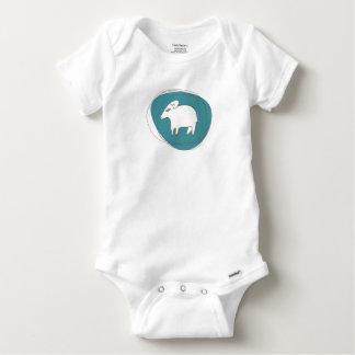 A sheep in ovals baby onesie