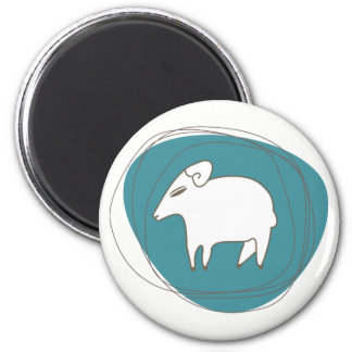 A sheep in ovals magnet