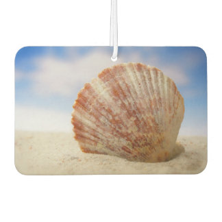 A Shell Propped In The Sand Car Air Freshener