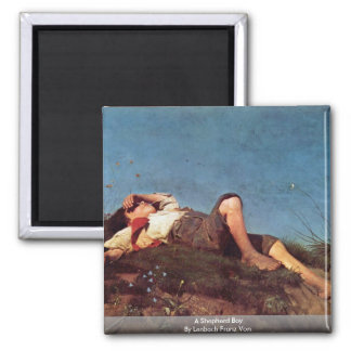 A Shepherd Boy By Lenbach Franz Von Fridge Magnets