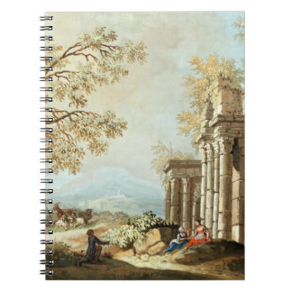 A Shepherd with Goats and other Figures amongst Cl Notebooks