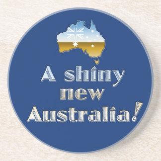 A Shiny New Australia Drink Coasters