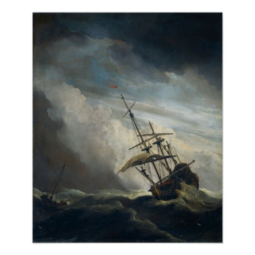 A Ship in Need in a Raging Storm Poster