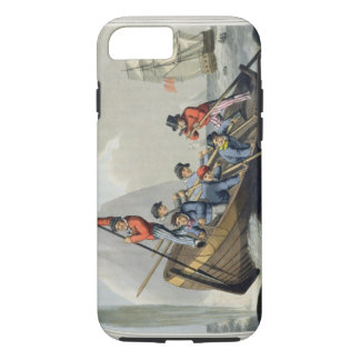 A Ship's Boat Attacking a Whale, engraved by Matth iPhone 8/7 Case