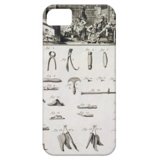 A shoe and bootmaker and their tools, from the 'En iPhone 5 Cases
