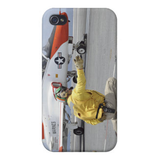 A shooter aboard the aircraft carrier case for the iPhone 4