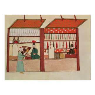 A Shop Selling Different Merchandise Postcard