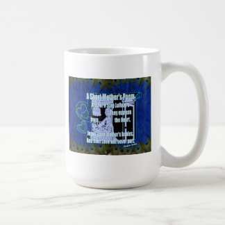 A Short Mother's Poem Shades of Blue MUGS