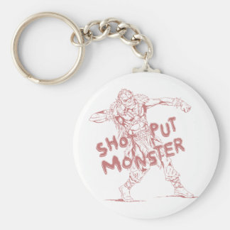 a shot put monster basic round button key ring