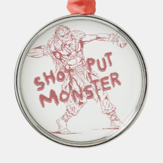 a shot put monster Silver-Colored round decoration