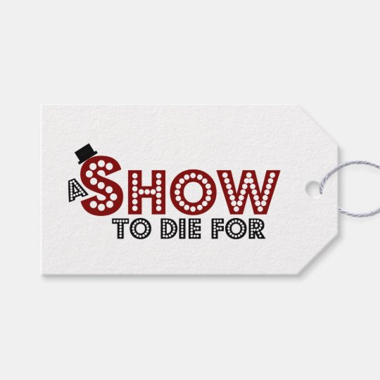 A Show to Die For parcel tag