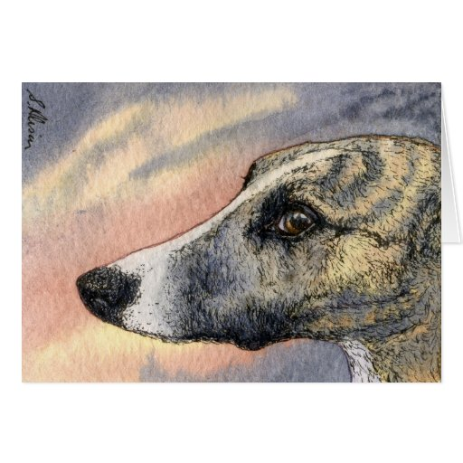 A Shy, Handsome Hound CARD
