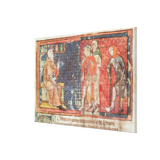 A sick man and a crippled man presented to canvas print