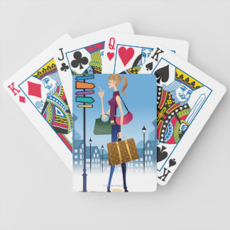 A Sign Bicycle Playing Cards