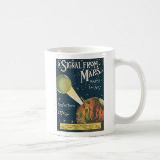 A Signal From Mars Basic White Mug