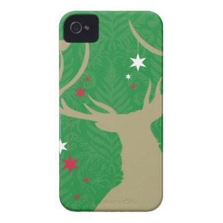 A silhouette of a deer with stars hanging from its iPhone 4 case