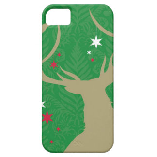 A silhouette of a deer with stars hanging from its iPhone 5 case