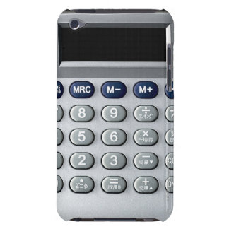 A silver calculator barely there iPod cases