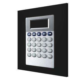 A silver calculator canvas print