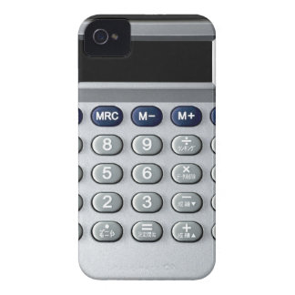 A silver calculator iPhone 4 cover