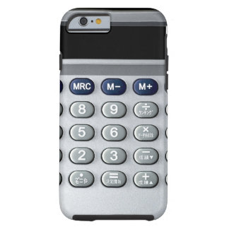 A silver calculator tough iPhone 6 case