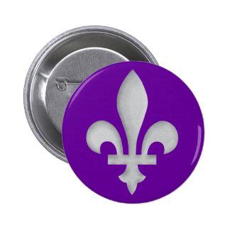 A Silver Fleur-de-lys Badge Button