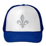 A Silver Fleur-de-lys Sports Team Club Hat