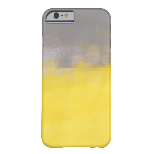 'A Simple Abstract' Grey and Yellow iPhone 6