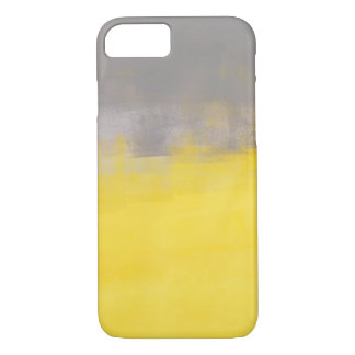 'A Simple Abstract' Grey and Yellow iPhone 7 case