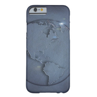 A simple blue global map of the earth showing barely there iPhone 6 case