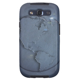 A simple blue global map of the earth showing samsung galaxy s3 cases
