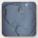 A simple blue global map of the earth showing coaster