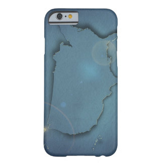 A simple blue map of the USA showing Alaska and Barely There iPhone 6 Case