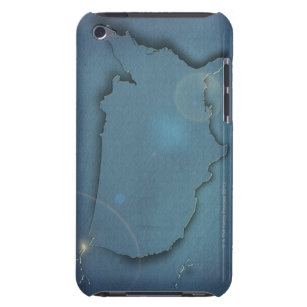 A simple blue map of the USA showing Alaska and Barely There iPod Case