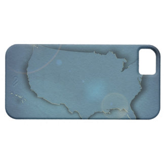 A simple blue map of the USA showing Alaska and iPhone 5 Cover