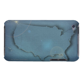 A simple blue map of the USA showing Alaska and iPod Touch Case