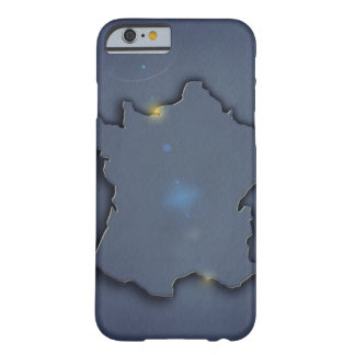 A simple blue map showing the of the outline of barely there iPhone 6 case