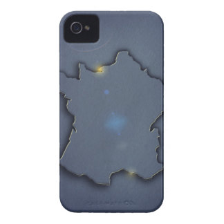 A simple blue map showing the of the outline of iPhone 4 Case-Mate cases