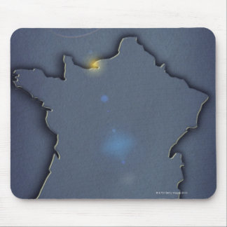 A simple blue map showing the of the outline of mouse pad