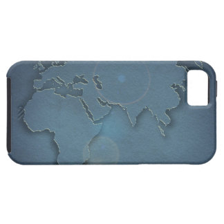 A simple blue map showing three continents - iPhone 5 cases