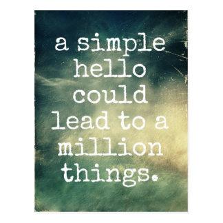 A Simple Hello - Inspirational Postcard