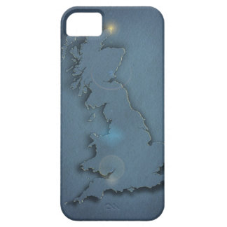 A simple map of the British Isles with sunset iPhone 5 Cases