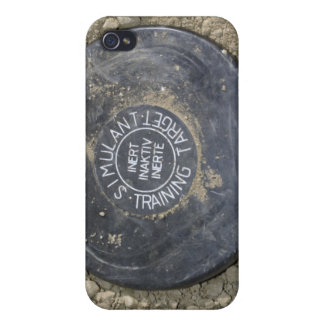 A simulated land mine case for the iPhone 4