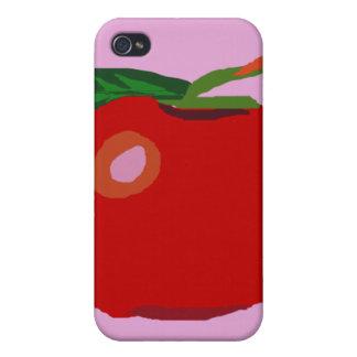 A Single Apple Light Pink iPhone 4/4S Case