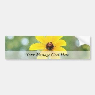 A Single Black Eyed Susan Bumper Sticker